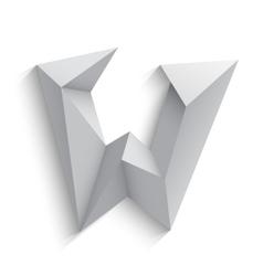 3d letter W on white vector image