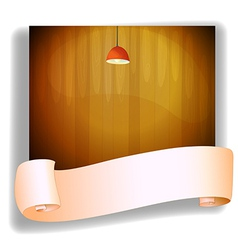 A red lampshde above an empty signage vector