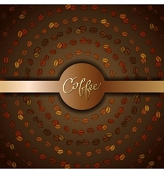 Abstract coffee design vector image vector image