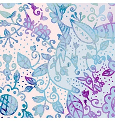 Abstract watercolor floral background vector image