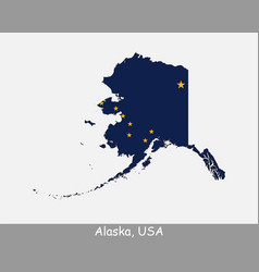 alaska usa map flag vector image