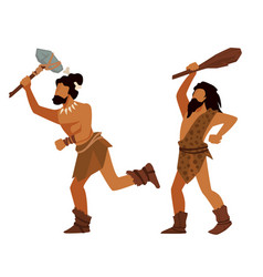 Animal hunters in prehistoric times ancient vector