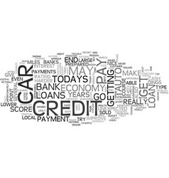 Auto loans in todays economy text word cloud vector