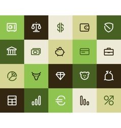 Bank and finance icons Flat vector image