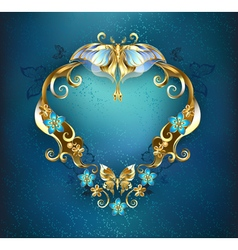 Banner with Gold Butterflies vector