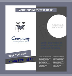 bat company brochure template busienss template vector image