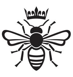 Bee queen with crown vector