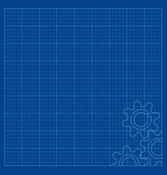 blueprint lined paper for technical drawings with vector image