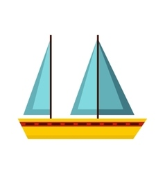 Boat icon flat style vector image