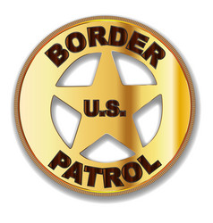 Border patrol badge vector