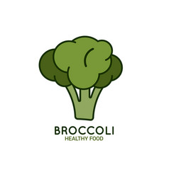 broccoli logo on white background vector image