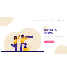 Business vision concept businessman and vector