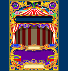 Circus wallpaper frame vector