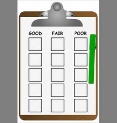 Clipboard checklist vector