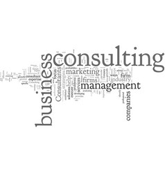 Consultants help fine tune your business vector