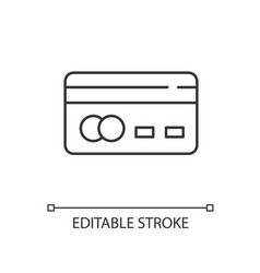 Credit card back linear icon vector