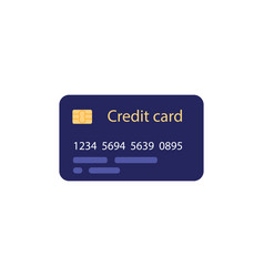 credit card - financial symbol in flat style for e vector image