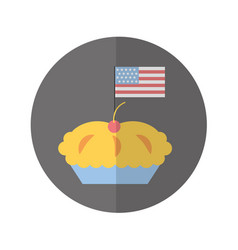 Delicious pie isolated icon vector