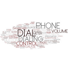 Dial word cloud concept vector