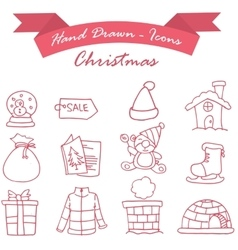 Element Christmas set of icons vector