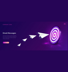 Email message service isometric marketing concept vector