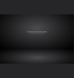 empty black gray studio abstract background vector image