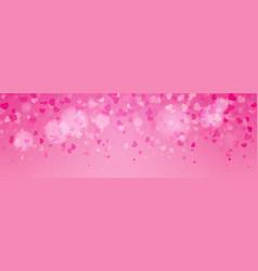 falling valentine hearts confetti background vector image