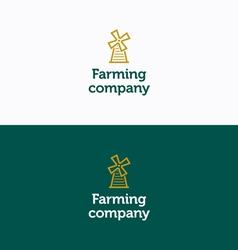 Farming company logo 01 vector
