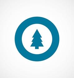 Fir-tree bold blue border circle icon vector