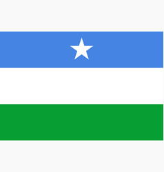 flag puntland vector image