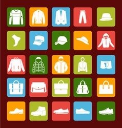 flat men set mens clothes and accessories icons vector image