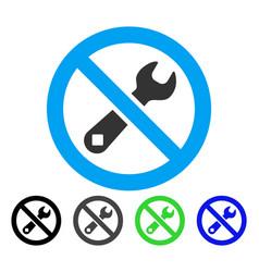 Forbidden repair flat icon vector