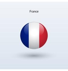 France round flag vector