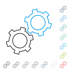 gears stroke icon vector image