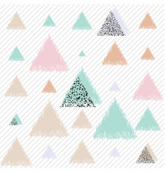 Geometric with triangles vector