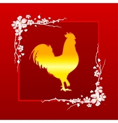 Golden Rooster symbol of Chinese New Year 2017 vector