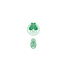 grandmother brain health icon logo vector image