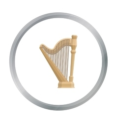 Harp icon in cartoon style isolated on white vector image