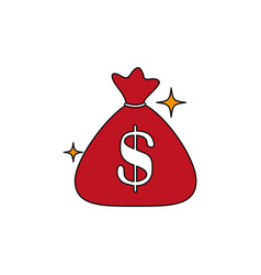 Isolated money bag icon fill design vector