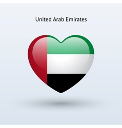 Love United Arab Emirates symbol Heart flag icon vector