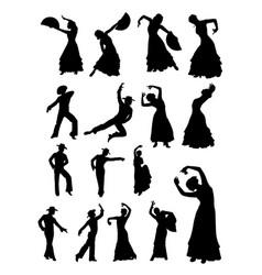man and woman dancing flamenco vector image