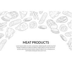 meat products banner template with place for text vector image