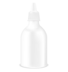 Medical drops bottle white container mockup vector