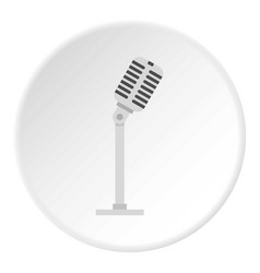 Microphone icon circle vector