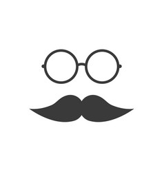 mustache with glasses vector image