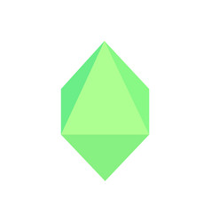 octahedron geometric shape vector image