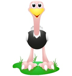 ostrich with simple gradient vector image