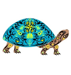 Overland turtle blue vector