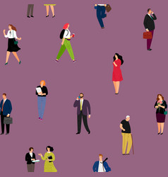 people seamless pattern vector image