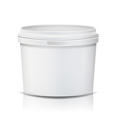 Plastic bucket realistic empty clean vector